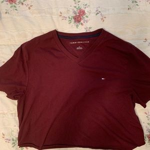 cropped tommy hilfiger shirt